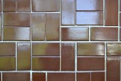 Kleurrijke bruine openluchtvloertegels Royalty-vrije Stock Foto's