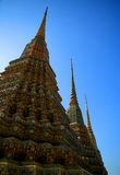 Kleurrijke budhist piked tempel Stock Afbeelding