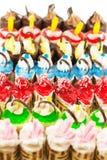 Kleurrijke buitensporige cakes Royalty-vrije Stock Fotografie