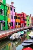 Kleurrijke Burano Stock Foto's