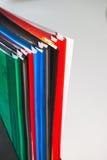 Kleurrijke bureauomslagen Royalty-vrije Stock Foto