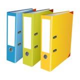 Kleurrijke bureauomslagen op witte achtergrond Royalty-vrije Stock Afbeelding