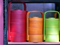 Kleurrijke Bussen stock foto's