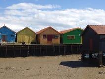 Kleurrijke cabine Royalty-vrije Stock Foto's