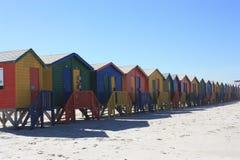 Kleurrijke Cabines op Muizenberg-Strand Zuid-Afrika royalty-vrije stock foto's