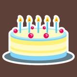 Kleurrijke cake in moderne grafisch Royalty-vrije Stock Foto's
