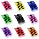 Kleurrijke Calculators Royalty-vrije Stock Afbeeldingen