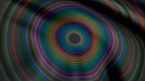 Kleurrijke caleidoscopische animatielijnen eindeloos - groot voor websiteachtergronden Hallucinogene caleidoscoopanimatie stock video