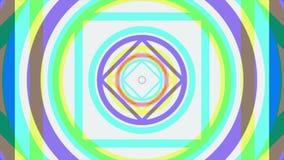 Kleurrijke caleidoscopische animatielijnen eindeloos - groot voor websiteachtergronden Hallucinogene caleidoscoopanimatie stock illustratie