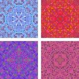 Kleurrijke caleidoscopische driehoeksreeks als achtergrond Stock Afbeelding