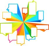 Kleurrijke calloutvormen Royalty-vrije Stock Afbeelding