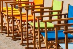 Kleurrijke Canvasstoelen in Symmetrie II Stock Foto