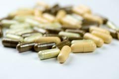 Kleurrijke capsules Stock Foto's