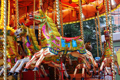 Kleurrijke Carrousel Stock Afbeelding