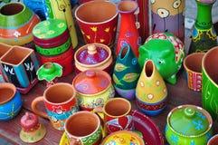Kleurrijke ceramisch Stock Afbeelding