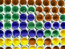 Kleurrijke ceramische kopachtergrond in pakhuis Royalty-vrije Stock Afbeelding