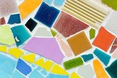 Kleurrijke ceramische patroonachtergrond Royalty-vrije Stock Foto's