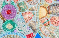 Kleurrijke ceramische patroondecoratie Stock Afbeeldingen