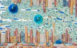 Kleurrijke ceramische patroondecoratie Royalty-vrije Stock Fotografie