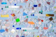 Kleurrijke ceramische patroondecoratie met kiezelstenenachtergrond Royalty-vrije Stock Afbeelding