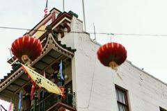 Kleurrijke Chinatown in San Francisco, Californi? stock afbeelding