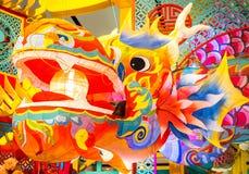 Kleurrijke Chinese draak stock foto