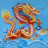Kleurrijke Chinese draak Royalty-vrije Stock Foto's