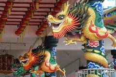Kleurrijke Chinese draak Stock Afbeelding
