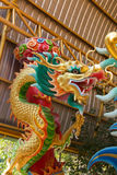 Kleurrijke Chinese draak in Chinese Tempel Royalty-vrije Stock Foto