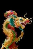 Kleurrijke Chinese draak in Chinese Tempel in Phitsanulok, Thailand Royalty-vrije Stock Foto