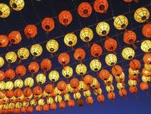 Kleurrijke Chinese lantaarns Stock Foto's