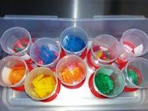 Kleurrijke Chirurgische Instrumentenbeschermer stock afbeeldingen