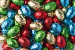 Kleurrijke chocoladeeieren Stock Fotografie