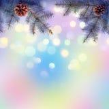 Kleurrijke Christmass-achtergrond Stock Afbeeldingen