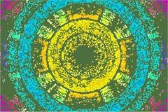 Kleurrijke Cirkelachtergrond stock illustratie