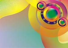 Kleurrijke cirkelachtergrond Royalty-vrije Stock Afbeelding
