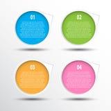 Kleurrijke cirkelbanner voor het creatieve werk Stock Foto
