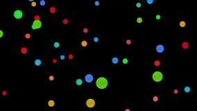 Kleurrijke cirkels abstracte achtergrond - 4k 30fps-lijn royalty-vrije illustratie