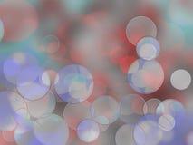 Kleurrijke cirkels van lichte abstracte achtergrond Royalty-vrije Stock Foto's