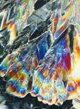 Kleurrijke citroenzuurkristallen stock fotografie
