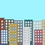 Kleurrijke Cityscape, Real Estate Stock Afbeeldingen