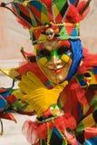 Kleurrijke clown Stock Foto's