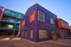 Kleurrijke complex van La Placita in Tucson Arizona stock afbeelding