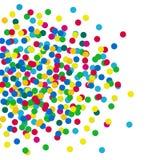 Kleurrijke confettien Royalty-vrije Stock Afbeeldingen