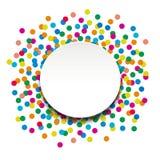 Kleurrijke confettien Royalty-vrije Stock Foto's