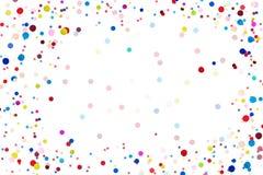 Kleurrijke Confettien vooraan op geïsoleerde achtergrond stock afbeelding