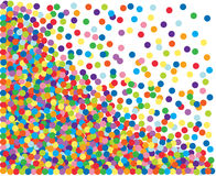 Kleurrijke confettienachtergrond vector illustratie