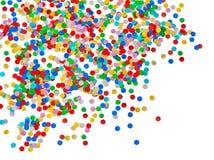 Kleurrijke confettienachtergrond. Carnaval-decoratie Royalty-vrije Stock Foto
