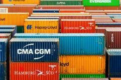 Kleurrijke containers Stock Afbeeldingen
