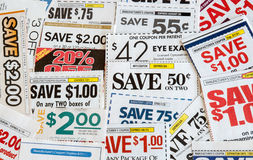 Kleurrijke coupons Royalty-vrije Stock Fotografie